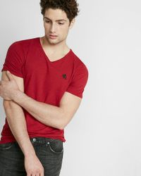 Express | Red Small Lion Slub V-neck Tee for Men | Lyst