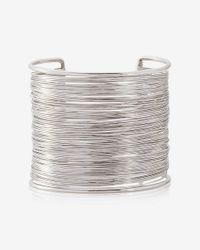 Express   Metallic Wrapped Metal Cuff Bracelet   Lyst