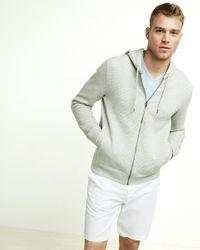 Express | Gray Full Zip Front Hoodie for Men | Lyst