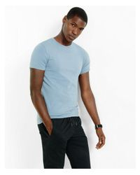 Express - Gray Flex Stretch Crew Neck Tee for Men - Lyst