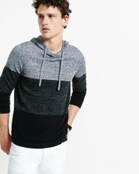 Express | Black Striped Color Block Hooded Sweater for Men | Lyst