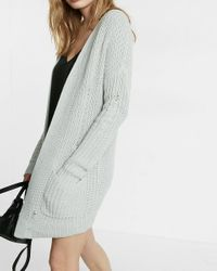 Express | Gray Drop Needle Dolman Sleeve Cover-up | Lyst