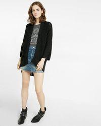 Express   Black Kimono Sleeve Cover-up   Lyst