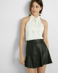 Express | White Tie Front Cut-out Tank | Lyst