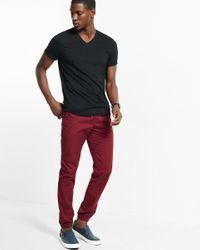 Express | Black Soft Wash V-neck T-shirt for Men | Lyst