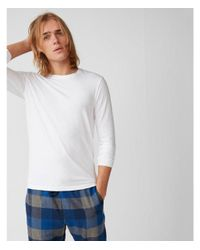 Express - White Supersoft Long Sleeve Crew Neck Stretch Tee for Men - Lyst