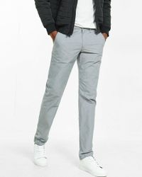 Express | Gray Slim Fit Microprint Chino Pant for Men | Lyst