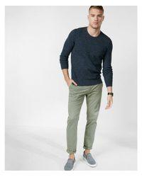 Express - Blue Textured Crew Neck Sweater for Men - Lyst