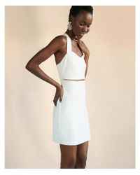 Express - White Cut-out Crisscross Mini Dress - Lyst