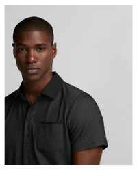Express - Black Chambray Collar Signature Polo for Men - Lyst
