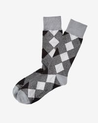 Express - Black Diamond Dress Socks for Men - Lyst