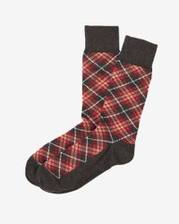 Express | Multicolor Plaid Dress Socks for Men | Lyst