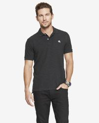 Express | Gray Small Lion Pique Polo for Men | Lyst