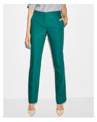 Express - Green Mid Rise Barely Boot Columnist Pant - Lyst
