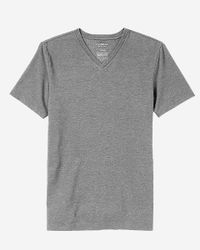 Express - Blue Flex Stretch Textured V-neck Tee for Men - Lyst