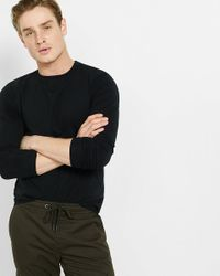 Express | Black Tall Flex Stretch Cotton Long Sleeve Tee for Men | Lyst