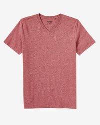 Express | Heathered Flex Stretch Cotton V-neck Tee for Men | Lyst