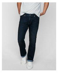 Express - Blue Slim Straight Dark Wash Stretch+ Soft Cotton Jeans, Men's Size:w30 L30 for Men - Lyst