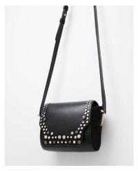 Express - Black Studded Snakeskin Cross Body Bag - Lyst
