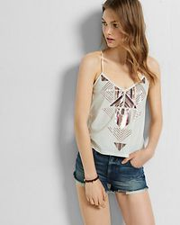 Express - Red Performance Stretch Mid Rise Rolled Cutoff Shorts - Lyst
