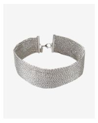 Express - Metallic Sparkle Chain Choker Necklace - Lyst
