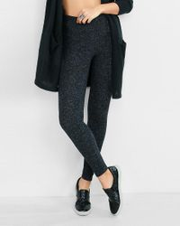 Express | One Eleven Dark Gray Plush Jersey Legging | Lyst