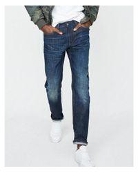 Express - Blue Slim Dark Wash Stretch Jeans, Men's Size:w34 L36 for Men - Lyst
