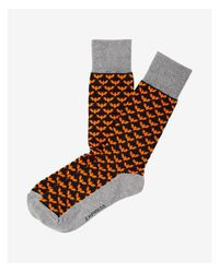 Express - Black T Print Dress Socks for Men - Lyst