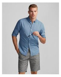Express - Blue Slim Soft Wash Garment Dyed Oxford Shirt for Men - Lyst