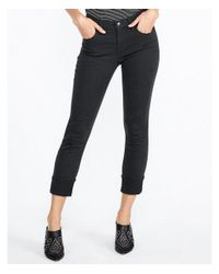 Express - Gray Mid Rise Cuffed Cropped Skinny Pant - Lyst
