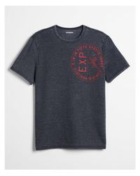 Express - Black French Terry Lion Seal Graphic Tee for Men - Lyst
