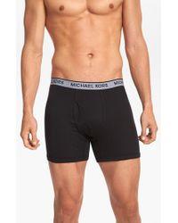 Michael Kors | Black 'soft Touch' Boxer Briefs, (3-pack) for Men | Lyst