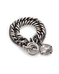 Ann Demeulemeester | Metallic Sterling Silver Medallion Chain Bracelet | Lyst