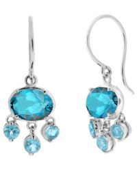 Dinny Hall | Blue White Gold Bali Topaz Drop Earrings | Lyst