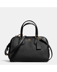 COACH   Black Nolita Satchel In Crossgrain Leather   Lyst