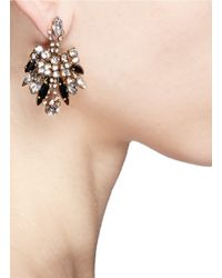 Aerin | Metallic X Erickson Beamon Crystal Drop Earrings | Lyst