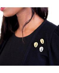 Rokus - Metallic Cowrie Tie Pin - Lyst