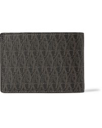 Saint Laurent | Brown Monogrammed Leather Billfold Wallet for Men | Lyst