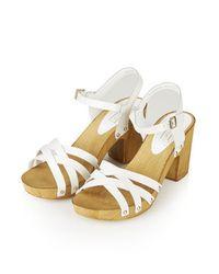 TOPSHOP - White Nancy Woven Sandals - Lyst