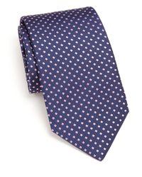Eton of Sweden | Blue Diamond-patterned Silk Tie for Men | Lyst