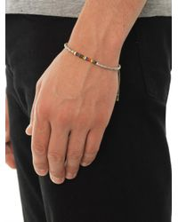 Paul Smith | Green Silver and Glassbead Bracelet | Lyst