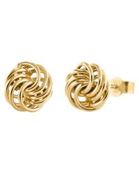 Ib&b | Metallic 9ct Gold Mini Rose Stud Earrings | Lyst