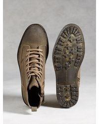 John Varvatos - Brown Lincoln Utility Boot for Men - Lyst
