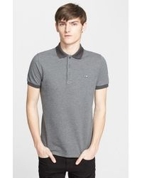 Burberry | Gray 'atkins' Cotton Polo for Men | Lyst