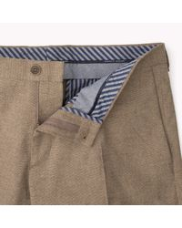 Tommy Hilfiger | Brown Cotton Stretch Tailored Trousers for Men | Lyst