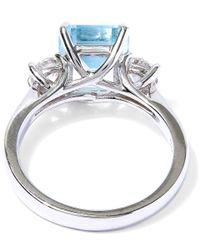 Kojis | Blue White Gold Aquamarine Diamond Ring | Lyst