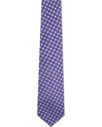 Turnbull & Asser | Square Pattern Silk Tie, Men's, Purple for Men | Lyst