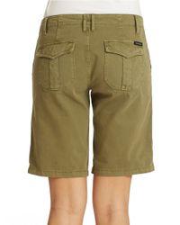 Sanctuary | Green Cotton Bermuda Shorts | Lyst