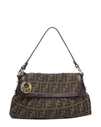 c55fc50b8786 Lyst - Fendi Pre-owned Brown Zucca Chef Bag in Brown