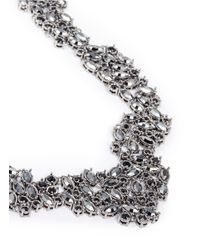 St. John | Gray 'night Bloom' Laurel Crystal Collar Necklace | Lyst